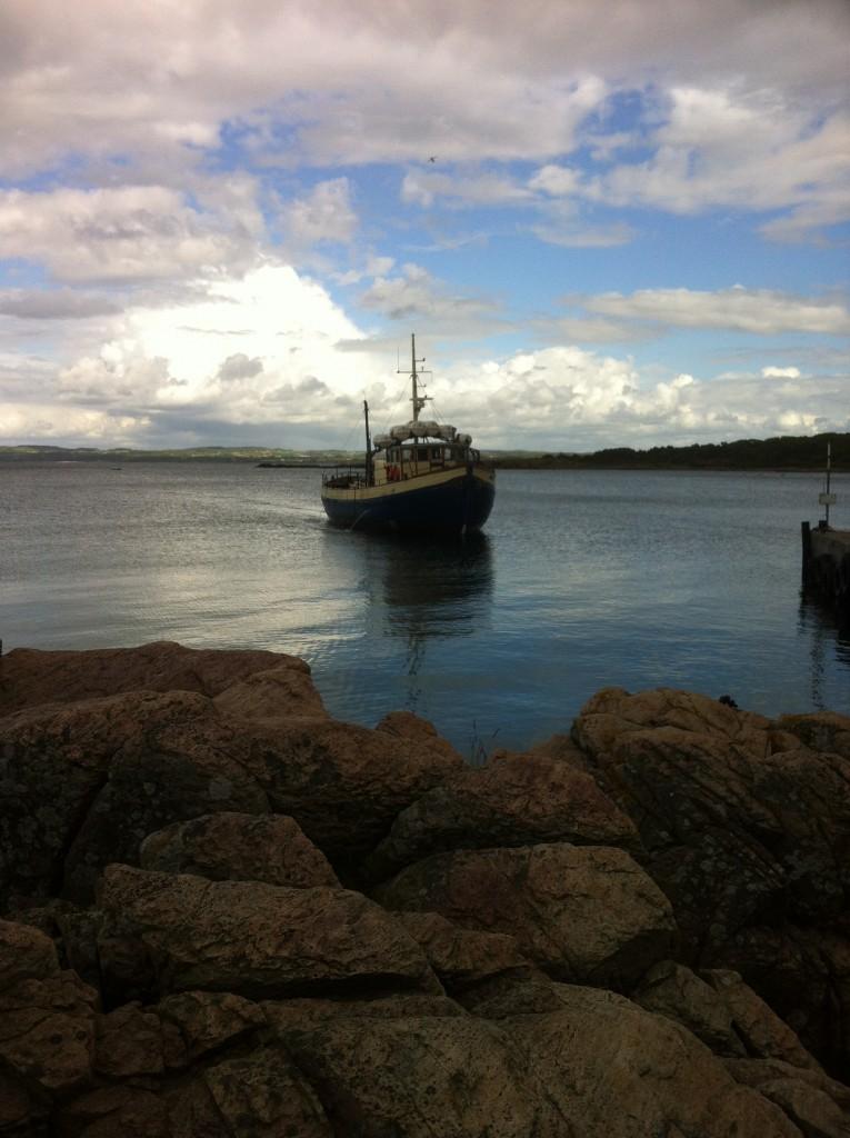 Båden ankommer til Sandhamn